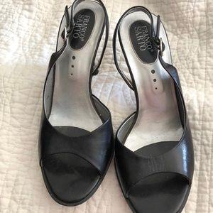 Preloved Franco Sarto sling 3.5 inch heel black